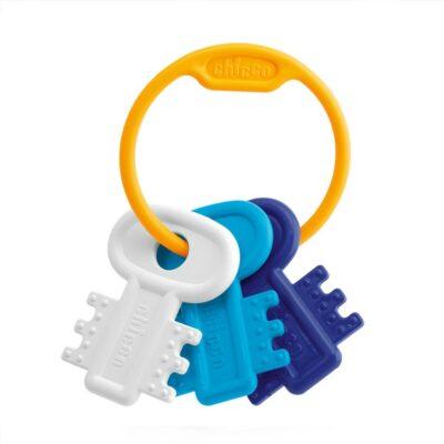 Chicco Κουδουνίστρα & Μασητικό Χρωματιστά Κλειδιά Μπλε 3m+