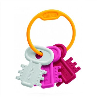 Chicco Κουδουνίστρα & Μασητικό Χρωματιστά Κλειδιά Ροζ 3m+