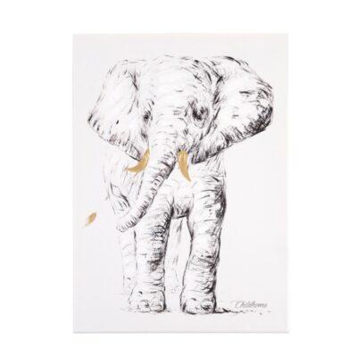 Διακοσμητικό Κάδρο 30x40εκ. - ChildHome Elephant Gold