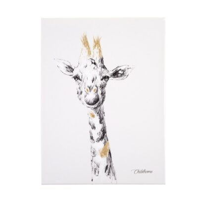 Διακοσμητικό Κάδρο 30x40εκ. - ChildHome Giraffe Gold