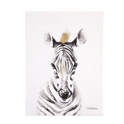 Διακοσμητικό Κάδρο 30x40εκ. - ChildHome Zebra Gold