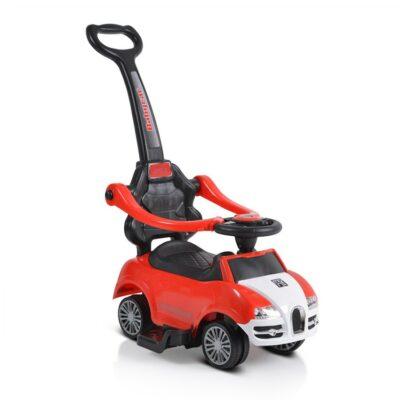 Ποδοκίνητο Αυτοκινητάκι με Λαβή Γονέα - MONI Rider 208 Red