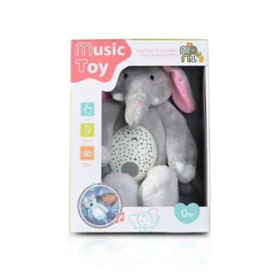 Λούτρινο Ελεφαντάκι με Φώτα και Μελωδίες - MONI Toys Night lamp White bear K999-311