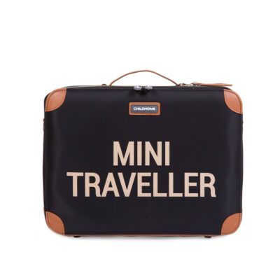 beberose.gr Παιδική Βαλίτσα - Childhome Mini Traveller Black/Gold