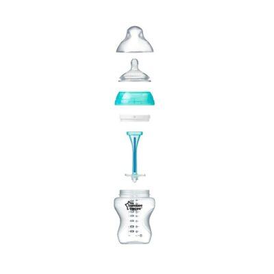 Tommee Tippee Πλαστικό Μπιμπερό Anti-Colic με Θηλή Σιλικόνης 0m+ 260ml