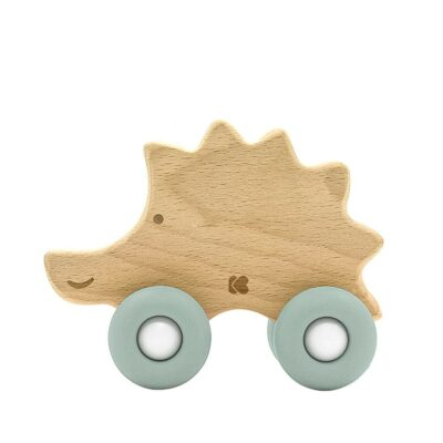 beberose.gr Ξύλινο Παιχνίδι / Μασητικό Οδοντοφυΐας - Kikka Boo Hedgehog Mint