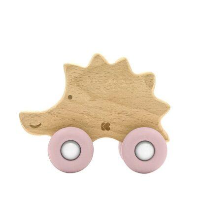 beberose.gr Ξύλινο Παιχνίδι / Μασητικό Οδοντοφυΐας - Kikka Boo Hedgehog Pink